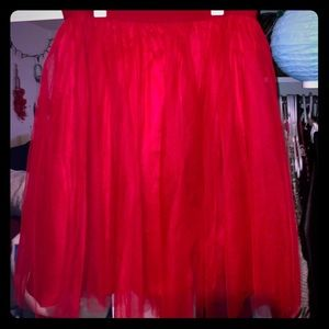 GORGEOUS Red Tulle Skirt - Plus Size